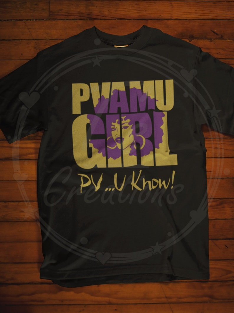 89b18637 PVAMU GIRL T-shirt Prairie View A&M University College | Etsy