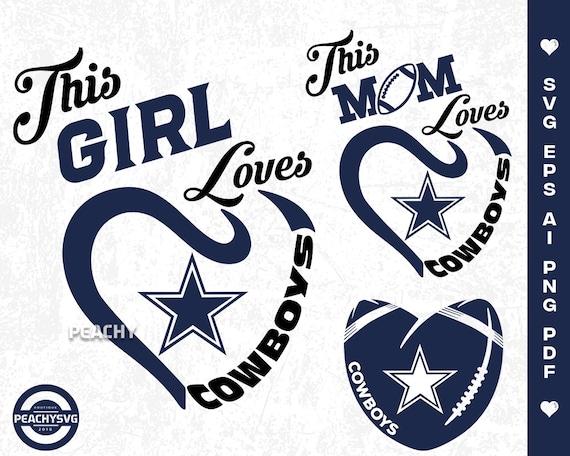 Dallas Cowboys Svg Vector Layered Cut File Cameo Cricut Etsy