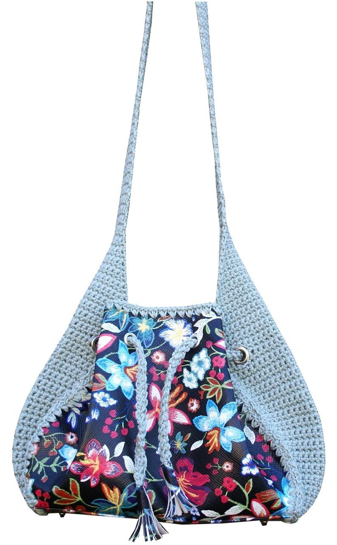 Hobo handbags tote bag flower shoulder bag leather bag