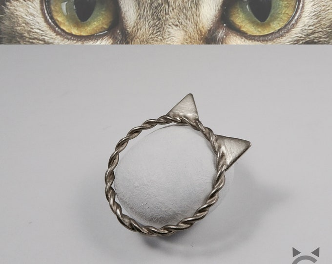 White Gold, Twisted Band, Cat ring😺