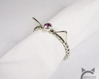 Birthstone Cat Ring 😺