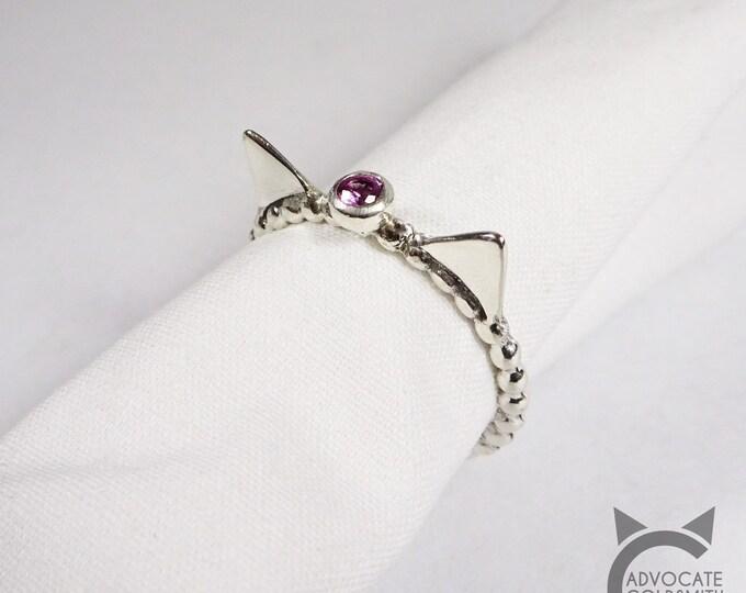Birthstone Cat Ring 😺
