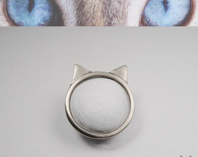 White Gold, AdvoCATe Original, Cat ring🐱