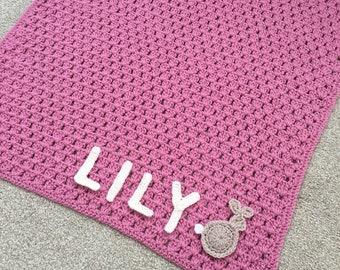 Crochet Name Blanket Etsy