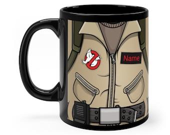 Personalized Ghostbusters Mug, Geeky Coffee Lover Gift, Nerdy Mug, Custom Movie Mug, Fathers Day Gift, Wedding Favor, Groomsmen Mugs