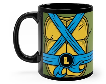 Turtle Mug, Turtles Mug, Leonardo Mug, TMNT Mug, Cartoon Mug, Superhero Mug, Geeky Mugs, Nerdy Mugs, Dad Mug, Best Friend Gift