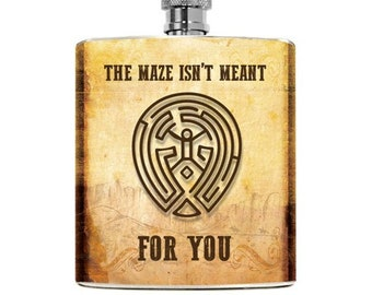 Nerdy Flask Westworld Gifts For Him Superhero Geeky Wedding Couple Groomsmen Boyfriend Birthday Party Christmas 6oz Alcohol Stainless Steel