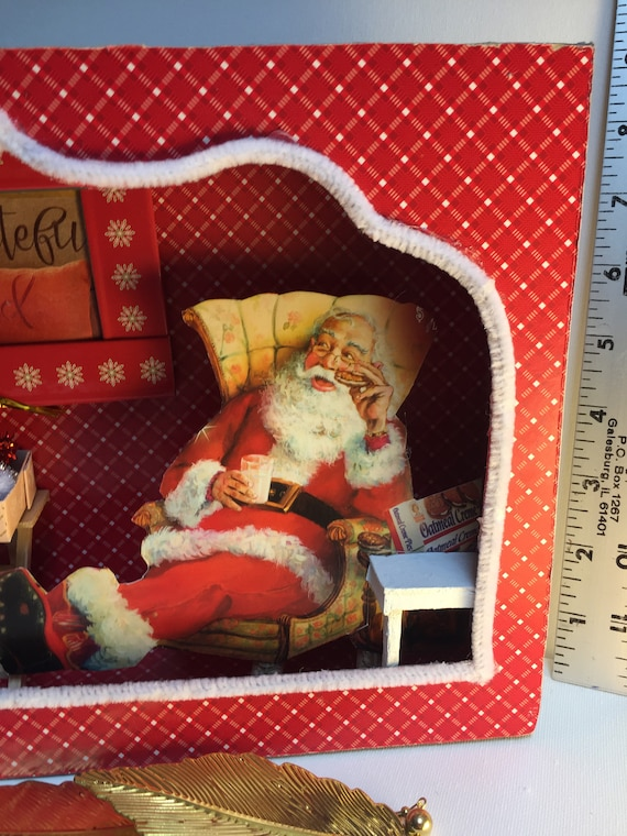 2020 Christmas Food Box 61401 Santa Clause Night before Christmas Diorama Shadowbox 3 D | Etsy