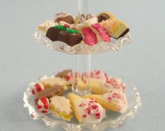 Dollhouse Miniature - Peppermint Tea Party Dessert Tray