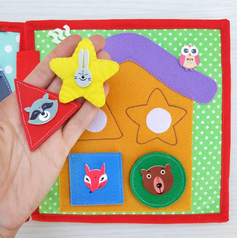 Toddler quiet book- quiet book pages - color match- learn colors- Build  your own quiet book - busy book - geometric shapes - learning colors