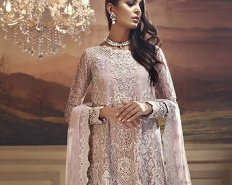 3a8cb3152e Pakistani Designer Anaya By Kiran Chaudhry Embroidered Net 3 Piece Suit  Wedding Collection Inspired