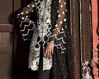 98fdf26f1a02 Orignal Zainab Chottani Embroidered Zari Net Unstitched 3 Piece Suit  Wedding Collection