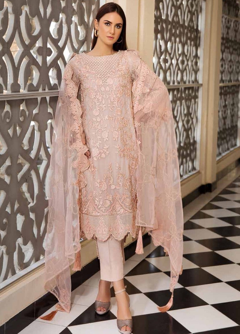 cc5062d43d Original Motifz Embroidered Chiffon Unstitched 3 Piece Suit | Etsy