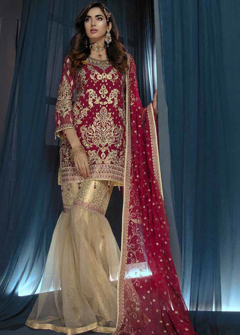 fce3a459c6 Original Emaan Adeel Embroidered Chiffon Unstitched 3 Piece | Etsy