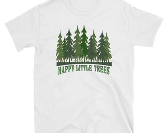 f4b74042b Oregon Word Tree Bob Ross Add to Favorites Nature Hiking Forest Happy Little  Trees Artist Paint Painters Short-Sleeve T-Shirt