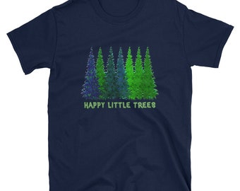 d918b133 Oregon Word Tree Bob Ross Add to Favorites Nature Hiking Forest Happy  Little Trees Artist Paint Painters Short-Sleeve T shirt