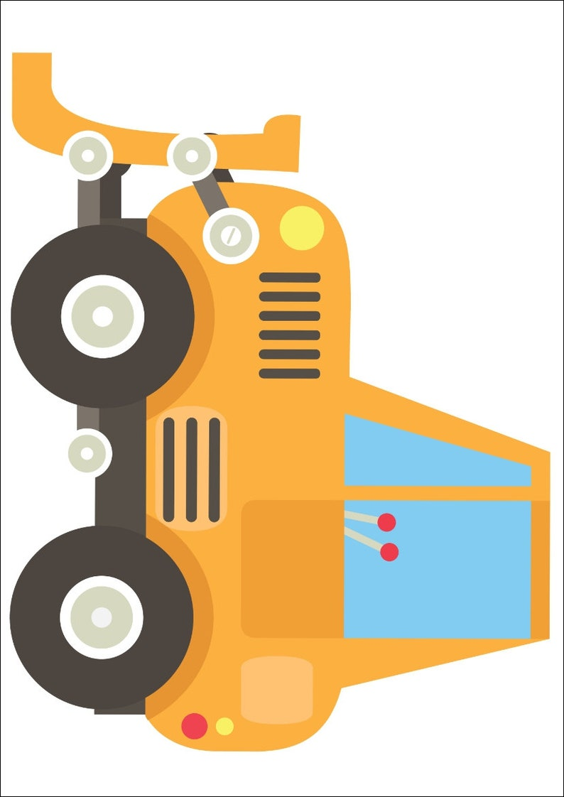 Wandtattoo Kinderzimmer Baby Junge Baustelle Auto Bagger