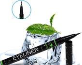 Liquid Eyeliner-Waterproof Eyeliner Liquid Pen Brush with Castor Oil for Eyelash Growth-Natural Eyeliner Liquid Pen Black by Petra Organics