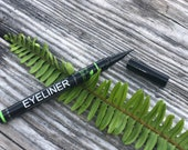 Petra Organics Black Liquid Eyeliner - with Castor Oil, Biotin Ginseng - Waterproof Eyeliner