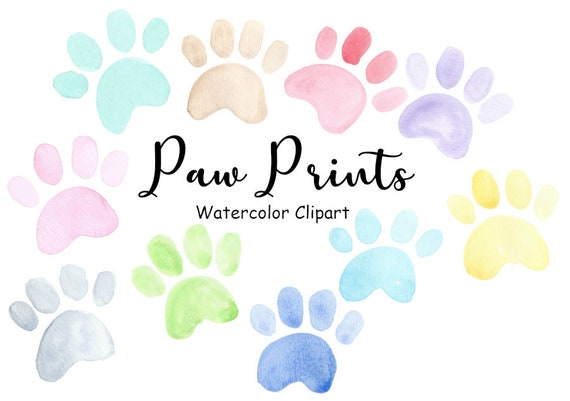 Watercolor Paw Print Clipart Dog Paw Clip Art Png Puppy Etsy Polish your personal project or design with these paw print transparent png images, make it even more. watercolor paw print clipart dog paw clip art png puppy watercolor graphics rainbow cat paw icon commercial use digital download