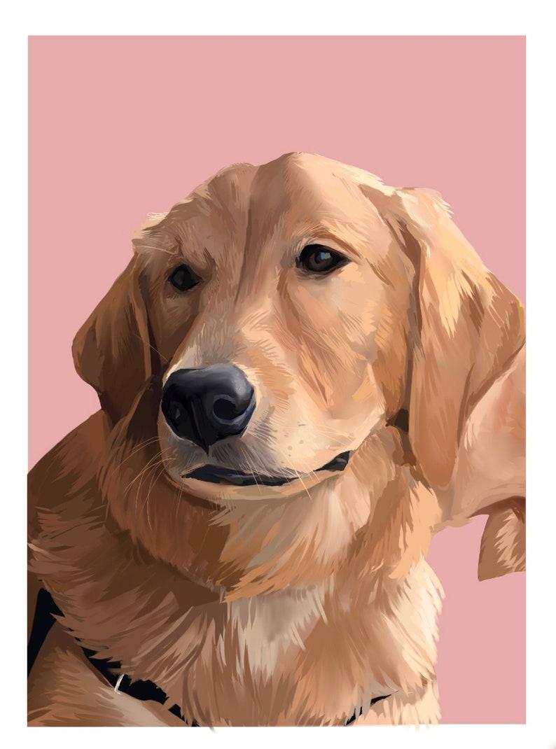 Hand Painted Dog Portrait Custom Dog Portrait Art Print Custom Wall Art