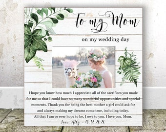 Mother of the Bride gift from Daughter Mom Wedding Gift Rehearsal Dinner Gift for Mother Wedding Frame Mother of the Bride Frame Wedding