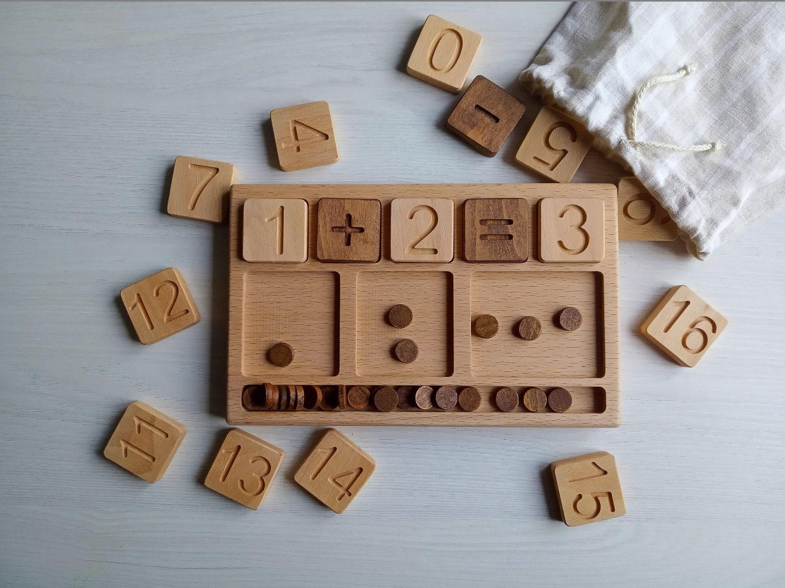 Mathe-Board von WoodenGiftsBY