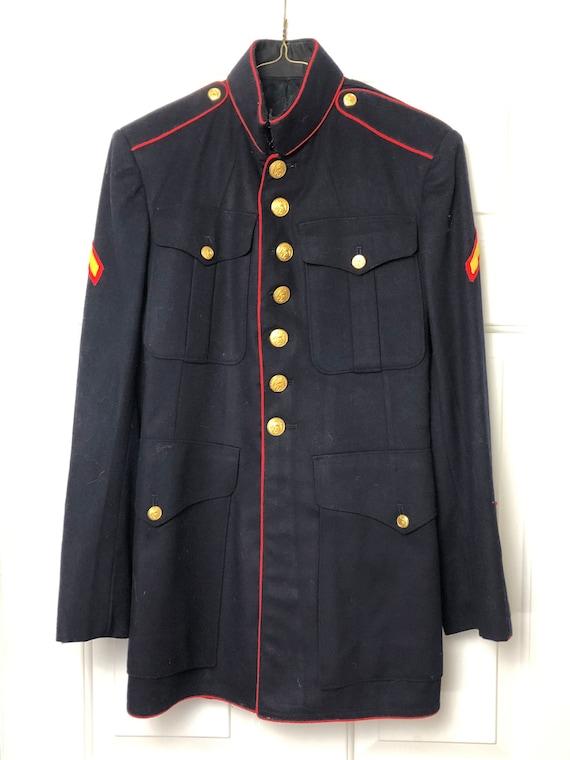 Vintage USMC dress blues jacket