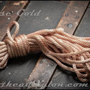 Knothead Nylon /'Antique Gold/' rope for Bondage Shibari and Kinbaku.