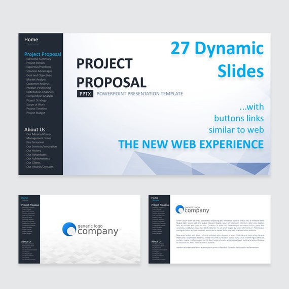 Project Proposal Powerpoint Dynamic Template 27 Etsy
