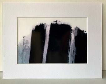 Curved Abstract FINE ART PRINT -  untitled - Signed. On Glossy Paper. Multiple Sizes, with Black or White Matte.From Video.