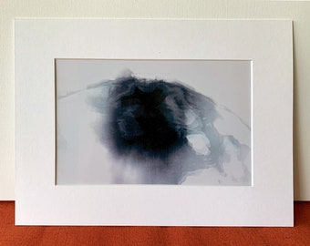 Soft Abstract FINE ART PRINT -  untitled - Signed. On Glossy Paper. Multiple Sizes, with Black or White Matte.From Video.