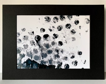 Patterned Abstract FINE ART PRINT -  untitled - Signed. On Glossy Paper. Multiple Sizes, with Black or White Matte.From Video.