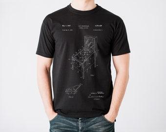0440005d Pinball Machine Patent T-Shirt, Pinball Player Shirt, Pin Ball Gift, Gamer  TShirt, Unisex Tee Shirt, Vintage Game T Shirt, Arcade Game Gift
