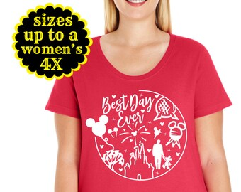 a71e9911c53 Disney Inspired Best Day Ever Womens Scoop Neck Tee