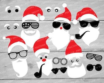 Santa sunglasses | Etsy