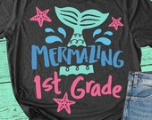 Mermazing 1st Grade Svg, Back To School Svg, First Grade Shirt Svg, Dxf, Eps, Png, Girls Svg, Kids, Teacher Svg, 1st Day of School Cut Files