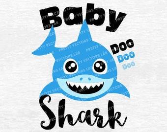 Boy shark svg | Etsy