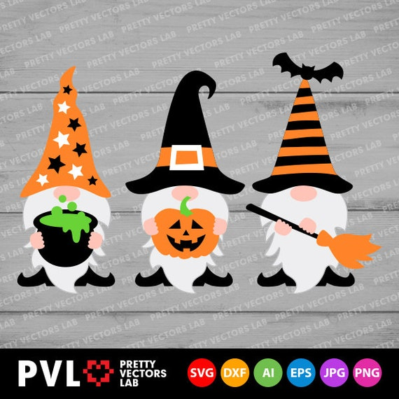 Halloween Gnomes Svg Halloween Svg Cute Gnome Svg Dxf Eps Etsy