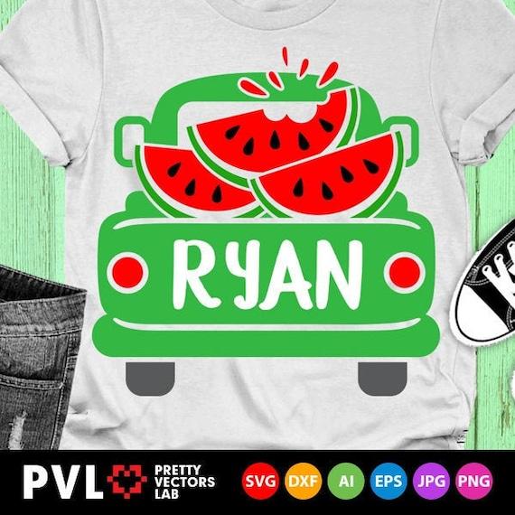 Watermelon SVG ~ Vintage Truck SVG ~ Watermelon Truck ~ Summer svg ~ Kids svg ~ Truck svg ~ Commercial Use SVG Clipart Cut File eps dxf png