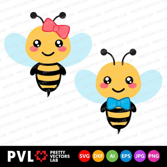 15d0364cd Bee Svg Bee Girl Boy Svg Bumble Bee Svg Dxf Eps Cute Bees image 0 ...