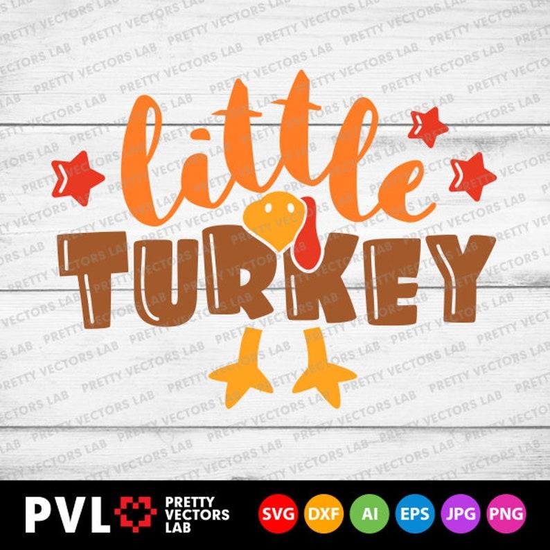 Little Turkey Svg Boys Thanksgiving Svg Dxf Eps Png Boy   Etsy