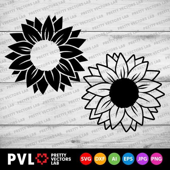 Sunflower Svg Flower Svg Sunflowers Clip Art Sunflower | Etsy