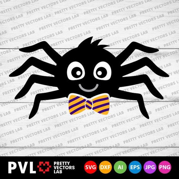 Halloween Svg Boy Spider Svg Cute Spider Svg Dxf Eps Png Etsy