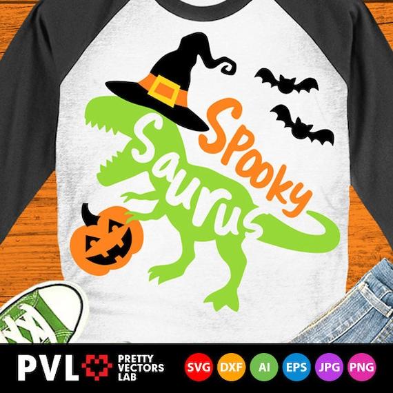 Dinosaur with Pumpkin svg png Silhouette T-Rex svg Cricut Cut File dxf Halloween Dinosaur svg Spooky Saurus Rex svg Shirt Design