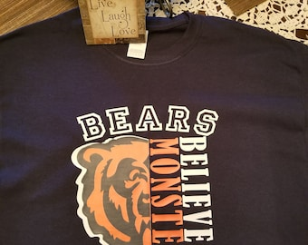 ecbcc8da4 Believe in Monsters Chicago Bears Shirt
