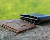 Chocolate Brown Slim Front Pocket Wallet by Saltrek Top Grain Leather (8 credit card slots), Father 39 s Day Gift, Men 39 s Leather Wallet