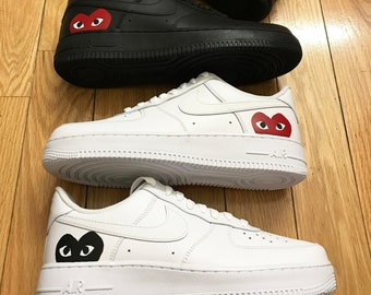 the best attitude 87289 a9351 Custom NIKE Air Force 1 CDG play Sneaker Mens Womens Gucci Supreme
