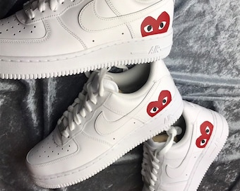 0adebbadafc Custom NIKE Air Force 1 CDG play White