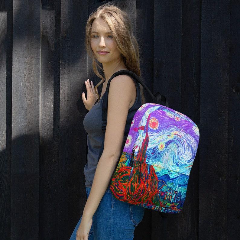 Starry Night Van Gogh Backpack Starry Night Bag Van Gogh Tote image 0